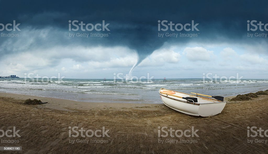 Seacoast Tornado stock photo