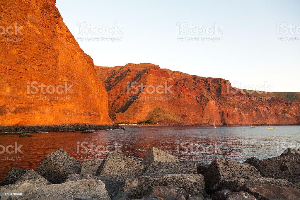 seacoast Valle Gran Rey, La Gomera, Canary Islands stock photo
