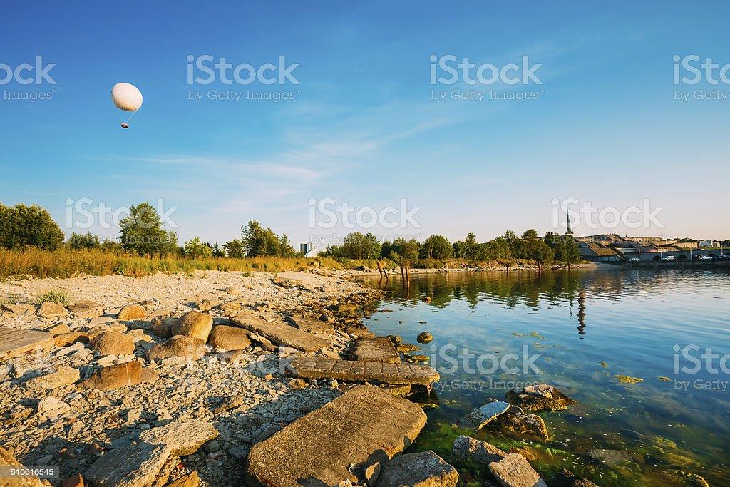 Seacost Seashore During Sundown In Tallinn, Estonia stock photo