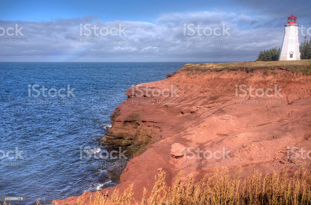 Seacow Head lighthouse, Prince Edward Island stock photo