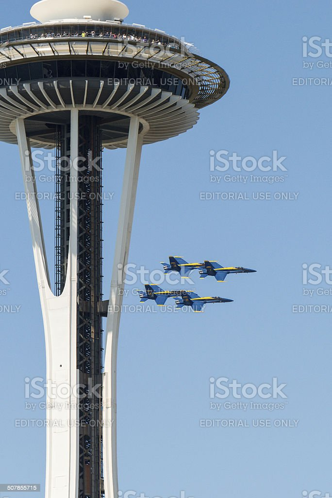 Seafair Blue Angels stock photo