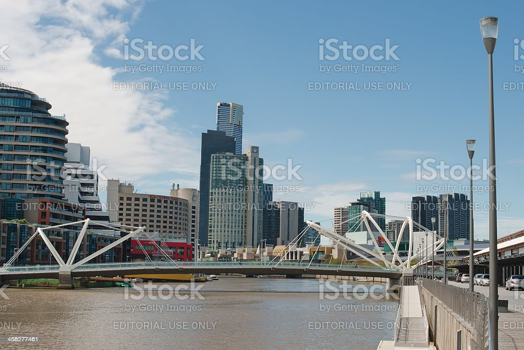 Seafarers Bridge in Melbourne royalty-free stock photo