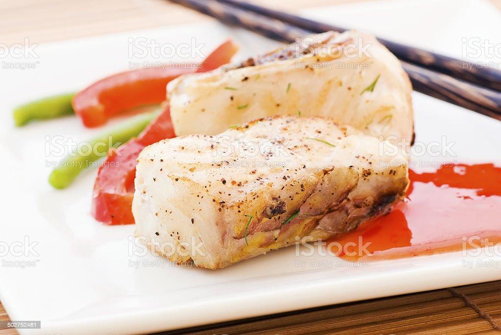 Seafish Sweet Sour stock photo