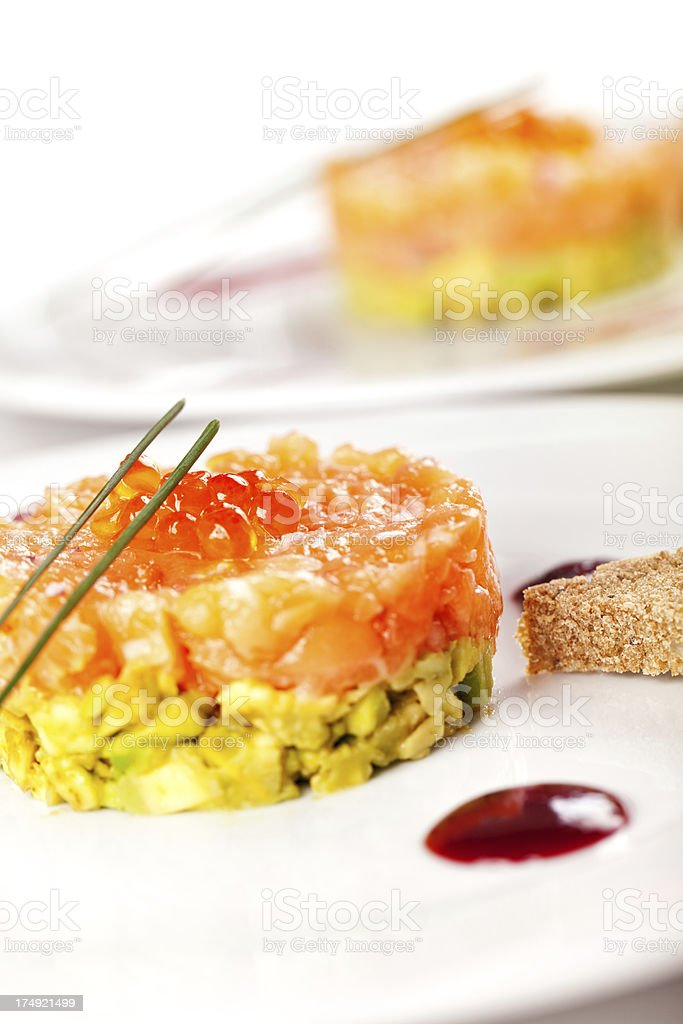 Seafood appetizer royalty-free stock photo