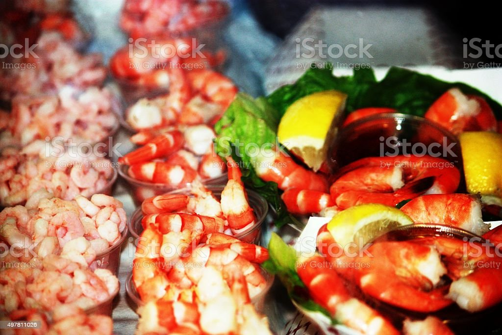 Seafood at Fisherman's Warf in San Francisco, USA stock photo