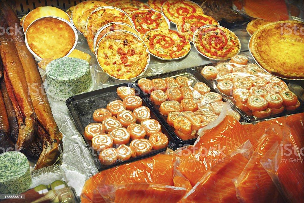 Seafood at the fish market royalty-free stock photo