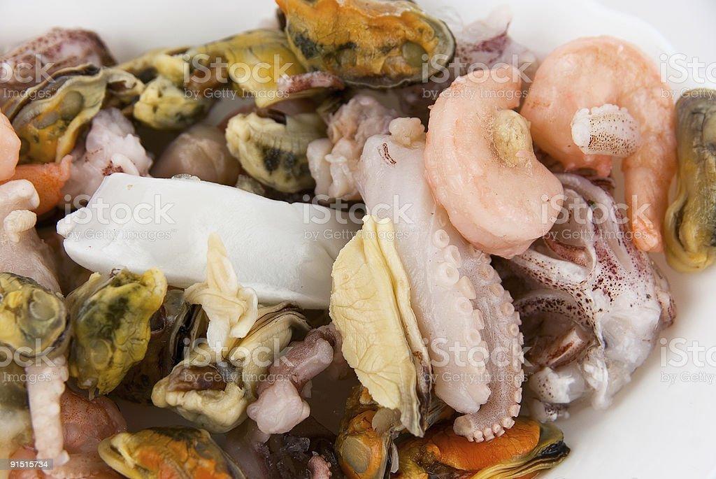Fond de fruits de mer photo libre de droits