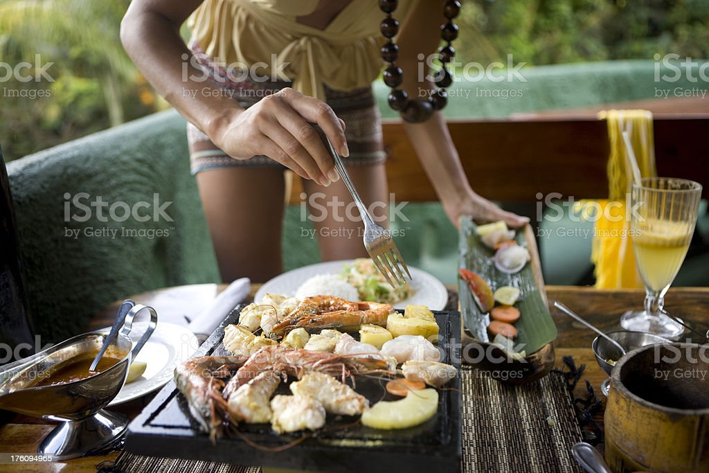 Seafood bar royalty-free stock photo