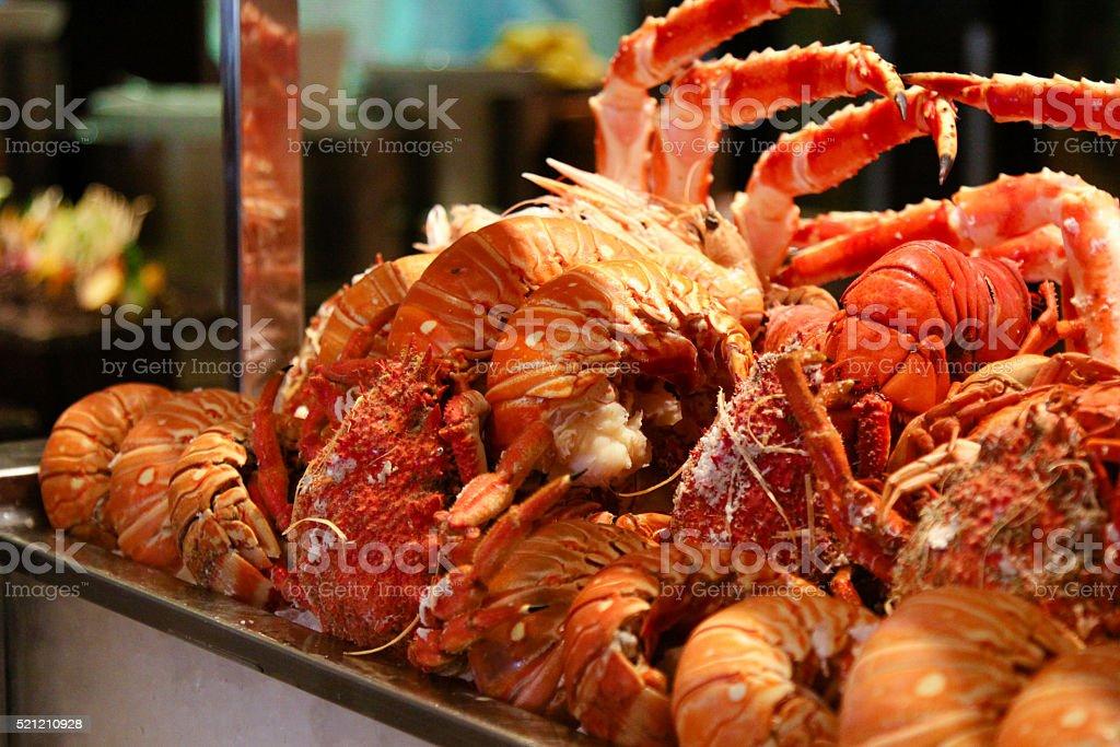 Seafood Buffet stock photo