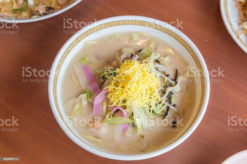Seafood Champon - Traditional Nagasaki  noodle dish. stock photo