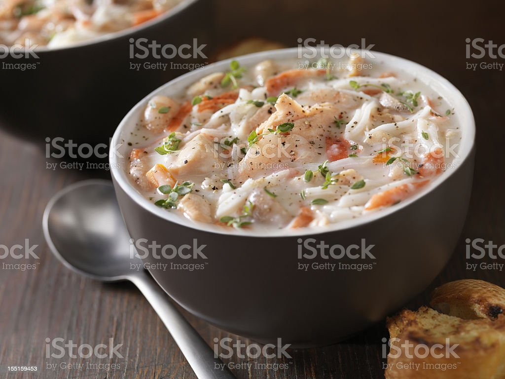 Seafood Chowder royalty-free stock photo
