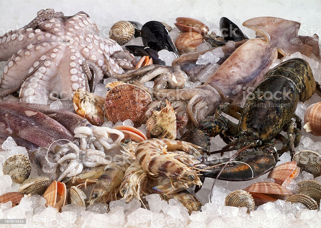 Seafood composition royalty-free stock photo