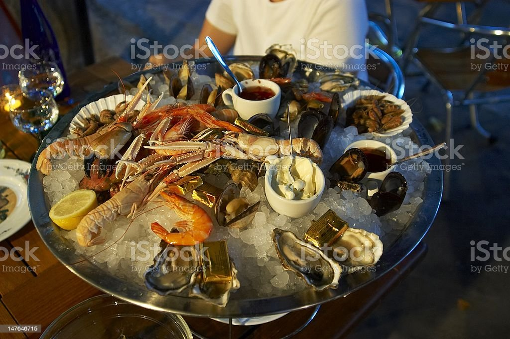 Seafood diner stock photo
