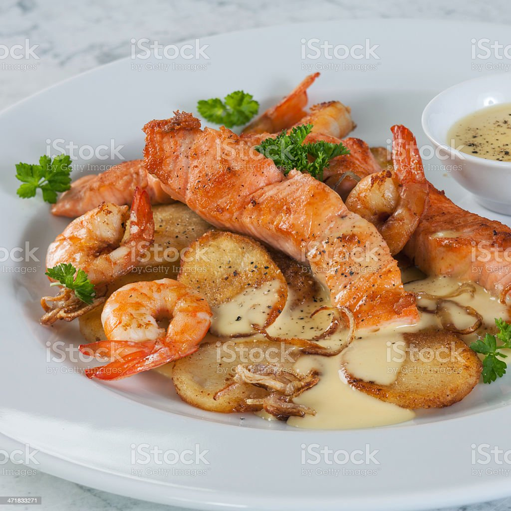 Seafood Dish royalty-free stock photo