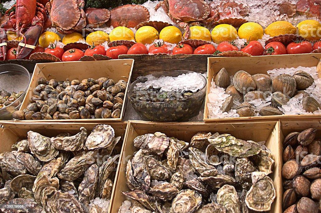 Seafood Display royalty-free stock photo