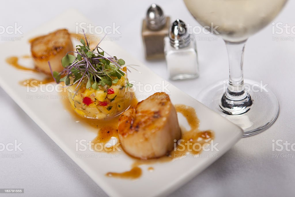 Seafood Fine Dining royalty-free stock photo