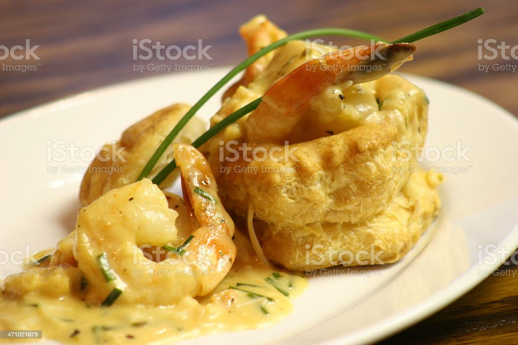 Seafood Vol au Vent royalty-free stock photo