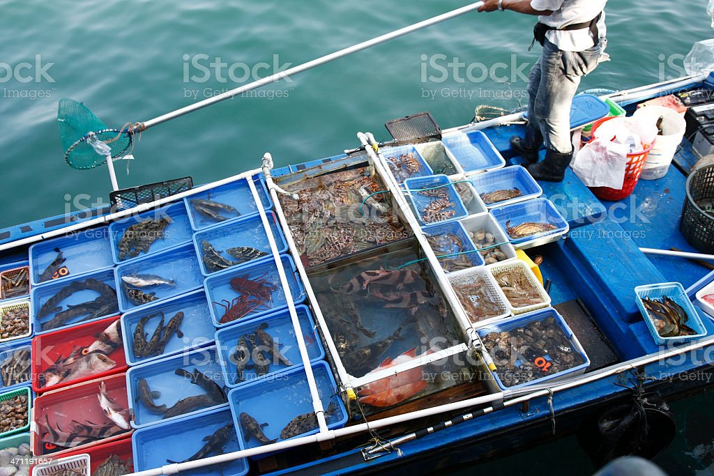 Seafood Floating Market stock photo