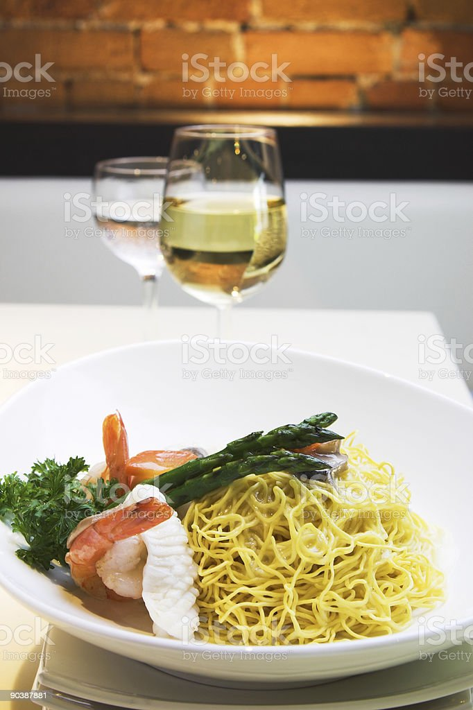 Seafood Fried Noodles royalty-free stock photo