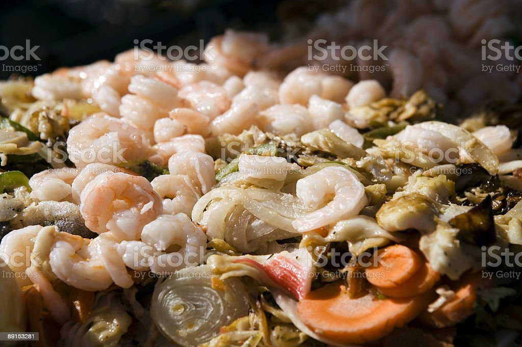 Seafood Gyros royalty-free stock photo