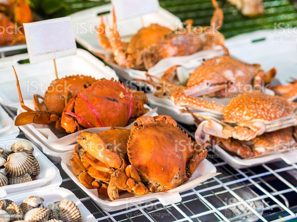 Seafood in Amphawa stock photo