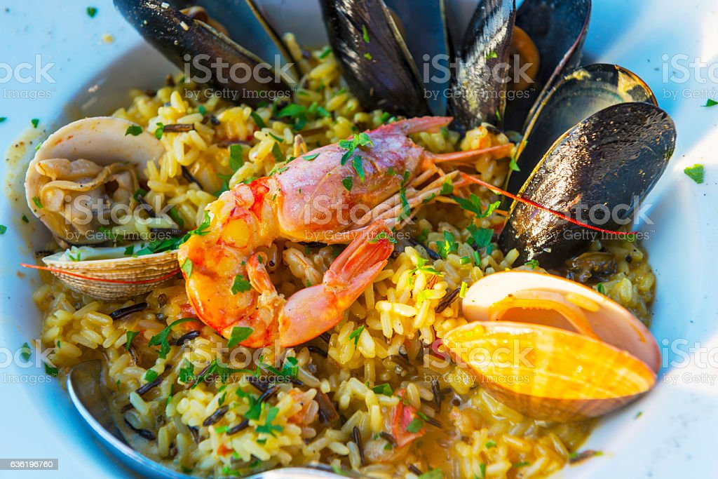 Seafood in Greece stock photo