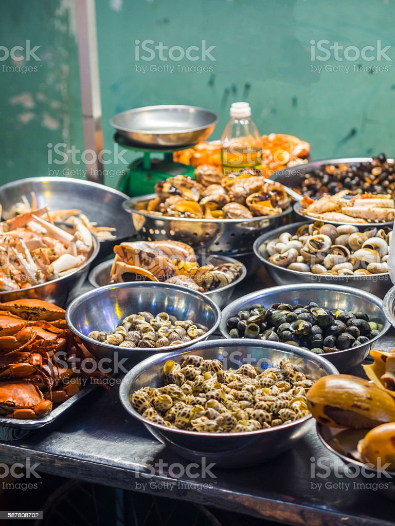 Seafood in Ho Chi Minh stock photo