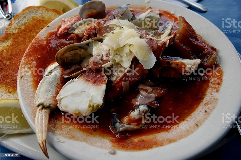 Seafood Lunch stock photo