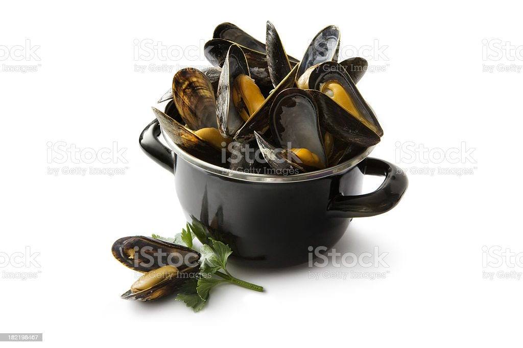 Seafood: Mussels stock photo