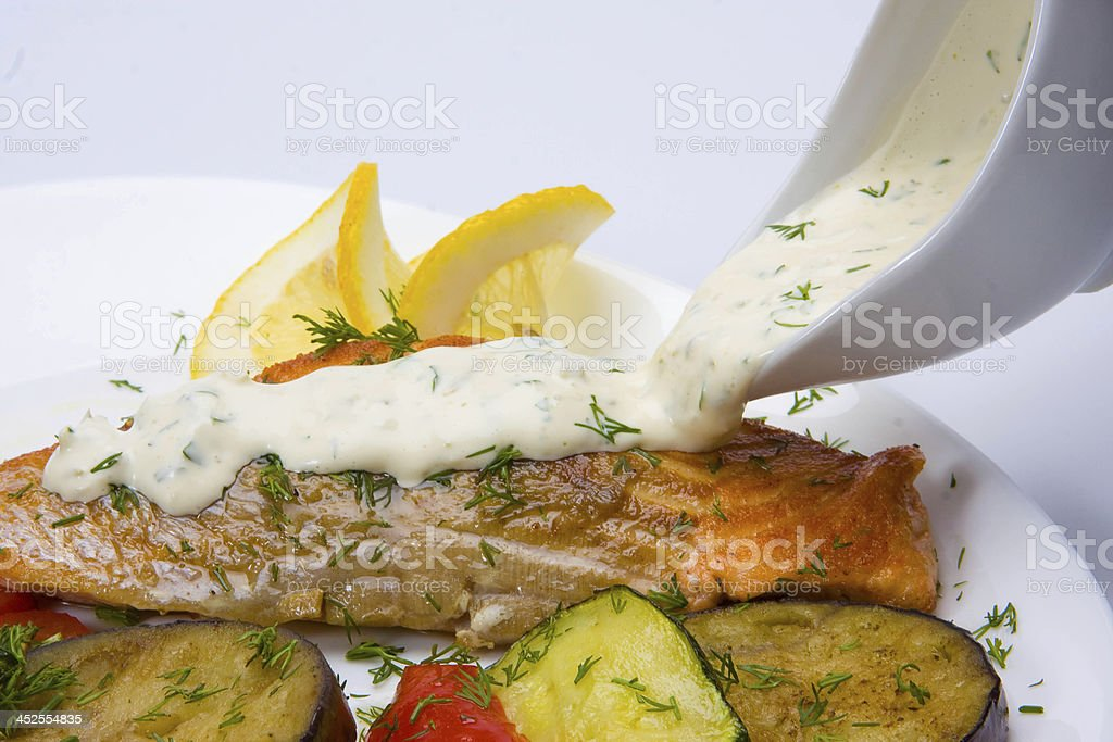 Seafood on white royalty-free stock photo