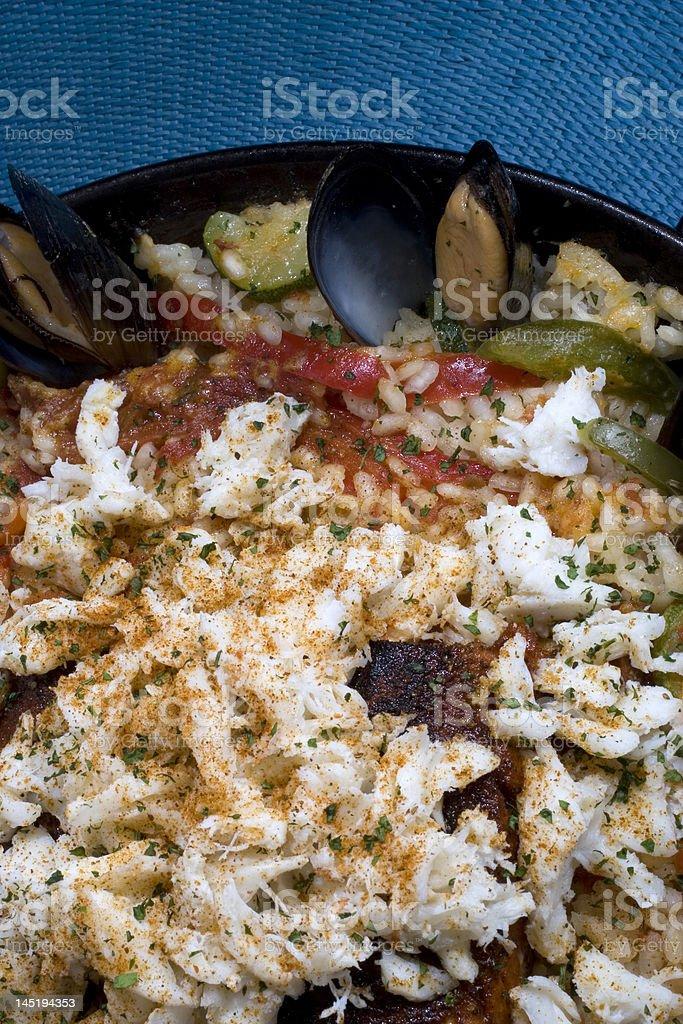 Seafood Paella Close Up royalty-free stock photo