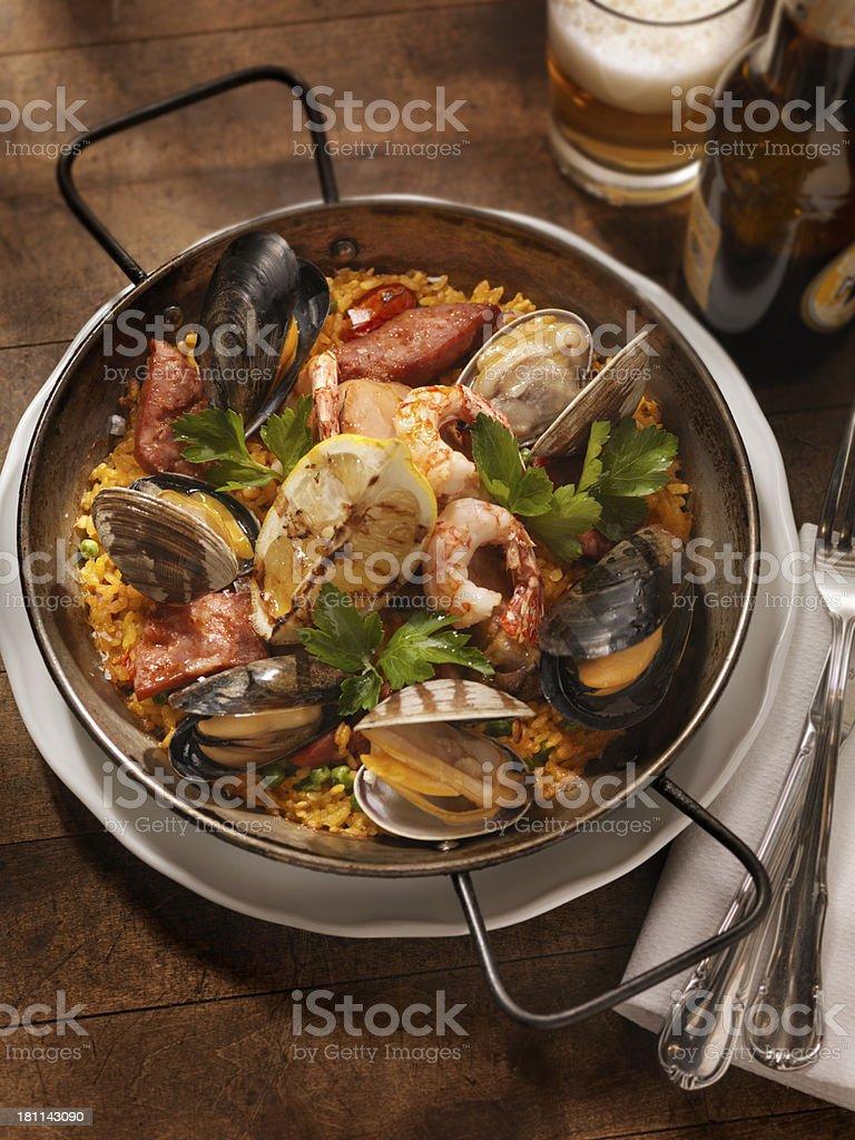 Seafood Paella royalty-free stock photo