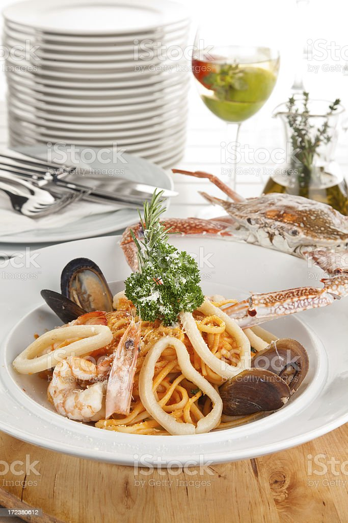 Seafood Paelle royalty-free stock photo