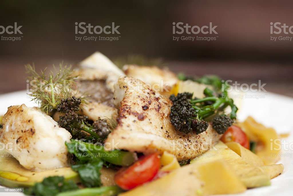 seafood pasta royalty-free stock photo