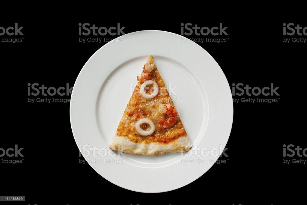 Seafood Pizza Slice royalty-free stock photo