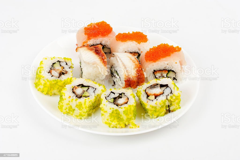 Seafood Plate royalty-free stock photo