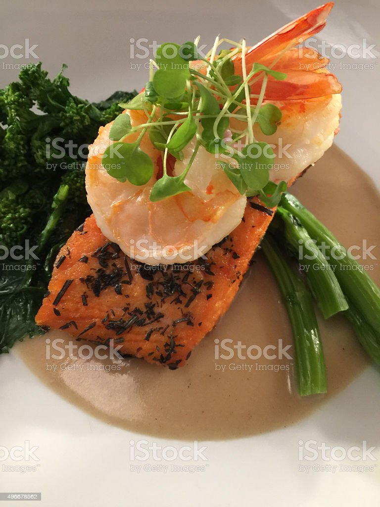 Seafood Plate stock photo