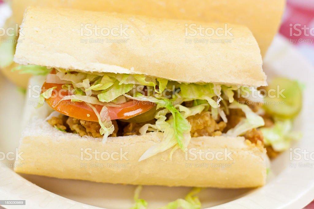 Seafood Po Boy Sandwich stock photo