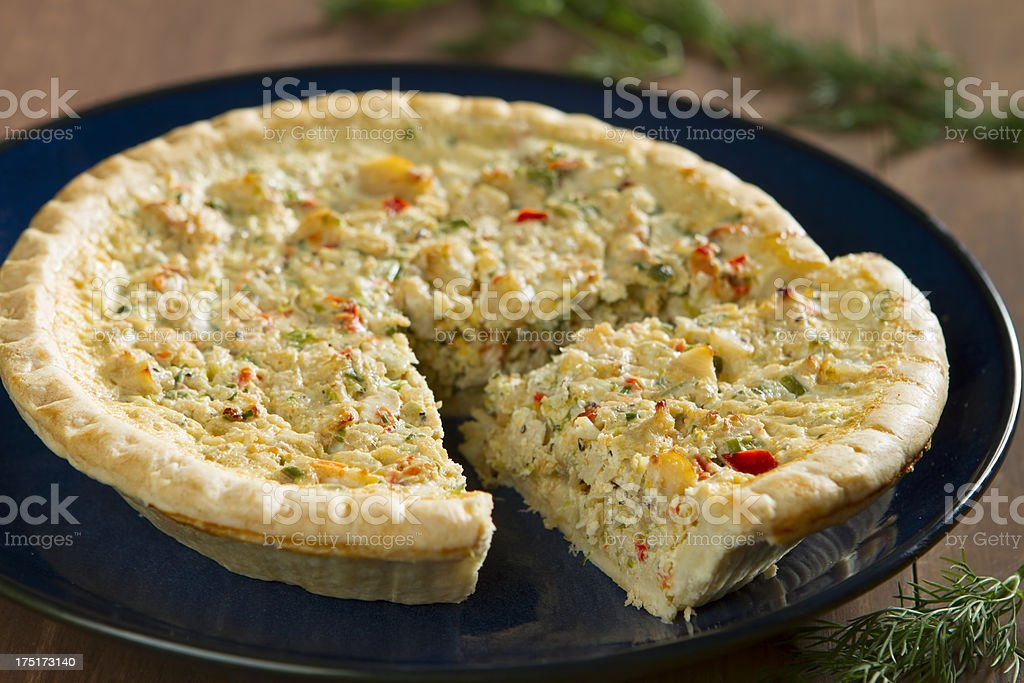 Seafood Quiche stock photo