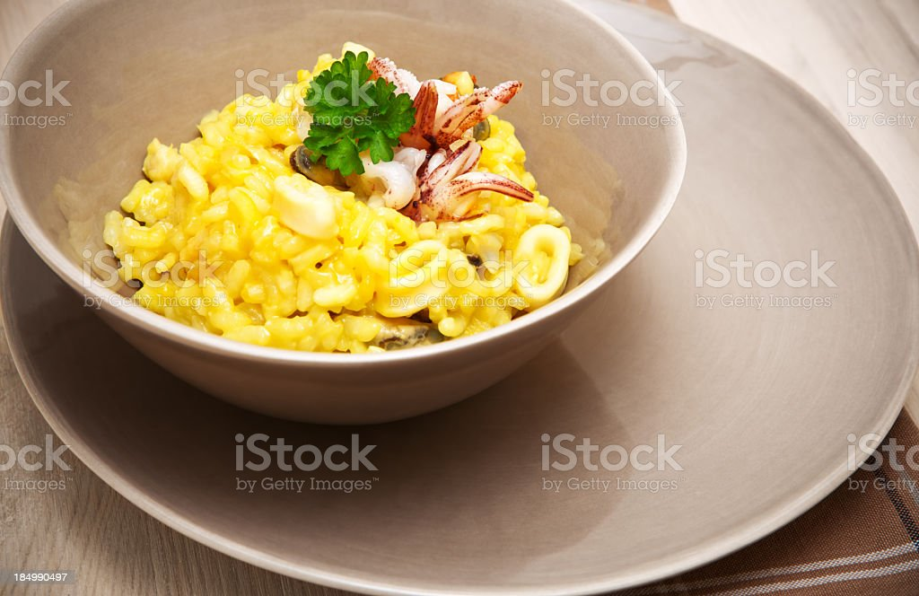 Seafood Risotto royalty-free stock photo
