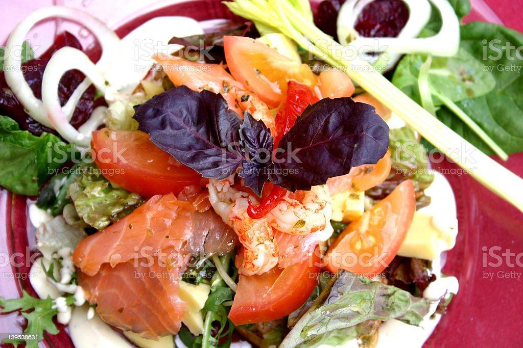 Seafood salad stock photo
