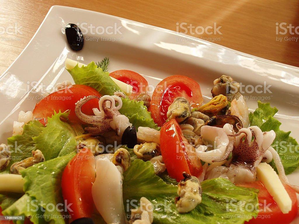Meeresfrüchte-Salat Lizenzfreies stock-foto