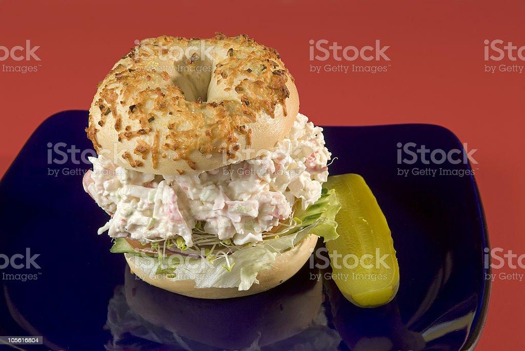 Sándwich de pescados y mariscos foto de stock libre de derechos