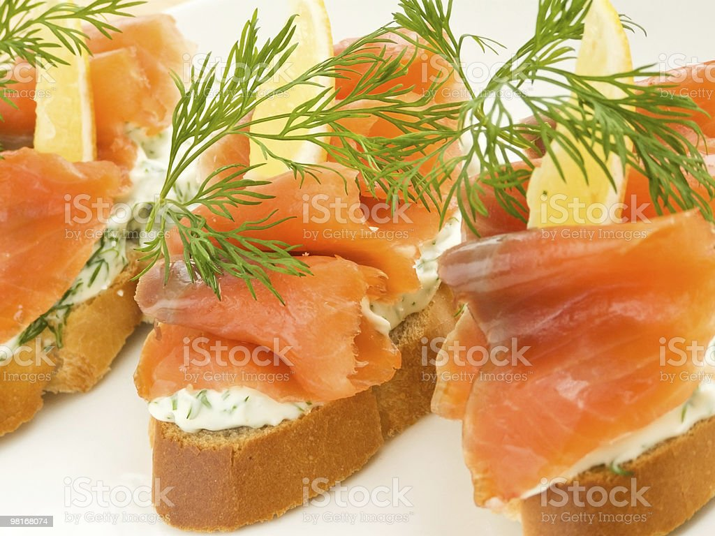 Seafood sandwiches royalty-free stock photo