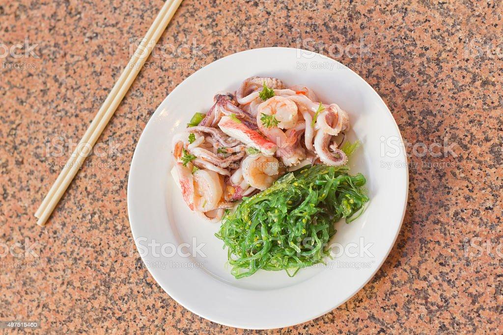 Seafood Seaweed Salad stock photo