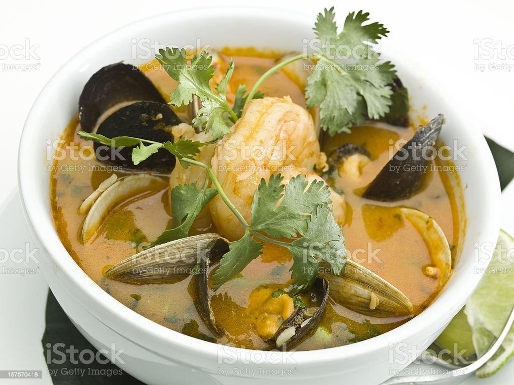 seafood soup royalty-free stock photo
