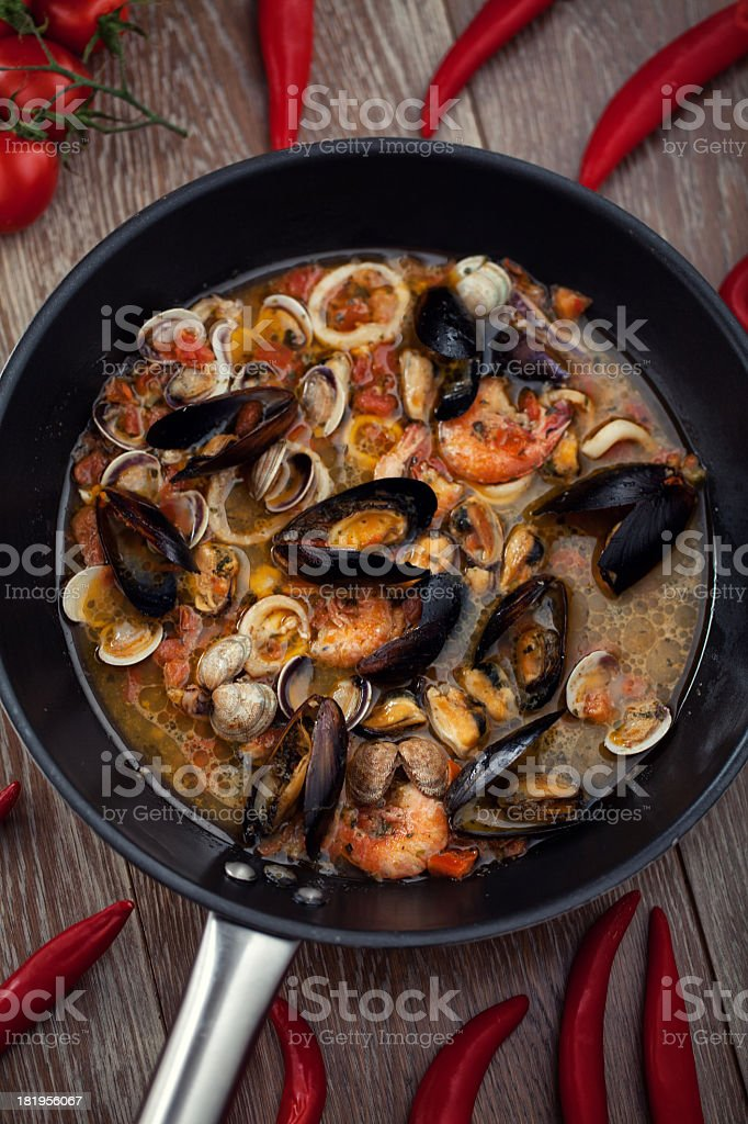 Seafood Soup stock photo