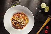 Seafood Spaghetti Plate