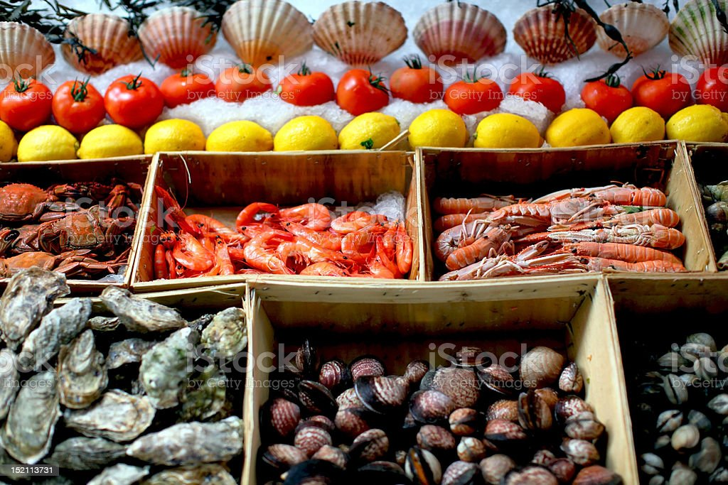 Seafood stall royalty-free stock photo