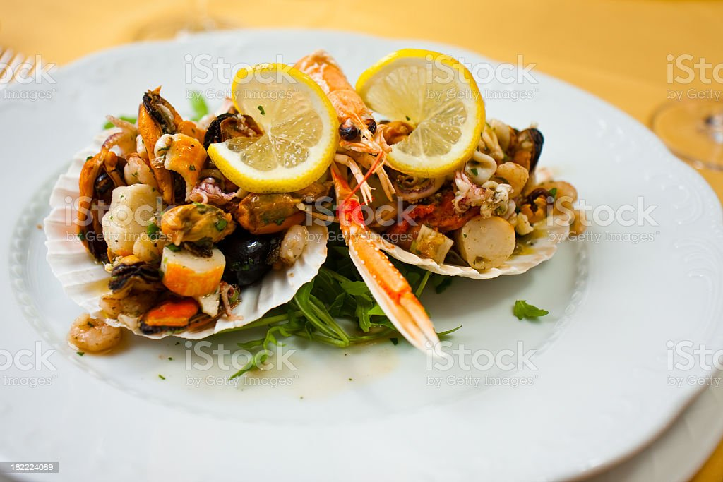 Seafood starter royalty-free stock photo